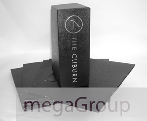 custom leather dvd box set packaging silver foil stamping