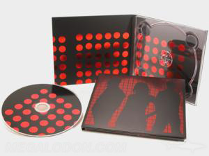 foil stamping custom cd printing packaging red foiling